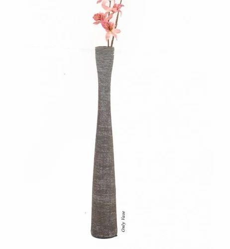 Grey Deco Aro Ceramic Flower Vase Ncp097005 Shape Bottle Shaped
