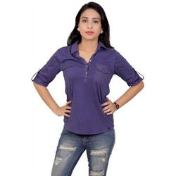 Ladies Casual Plain Shirt