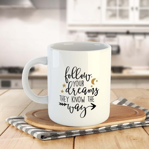 Quotes Printed Birthday Gift Coffee Mugs
