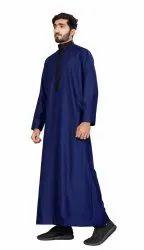 Blue Color Cotton Men Thobe Jubba