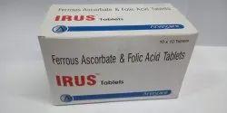 Irus Ferrous Ascorbate & Folic Acid Tablets