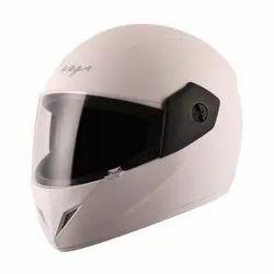White Polycarbonate Vega Full Face Bike Helmet