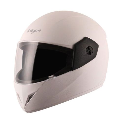 White Polycarbonate Vega Full Face Bike Helmet