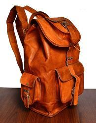Leather Backpack, Vintage Leather Backpack, Rucksack, Shoulder Backpack, Backpack, Goat Leather Bag