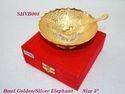Bowl Golden & Silver Elephant 5