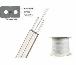 2f White FTTH fiber cable