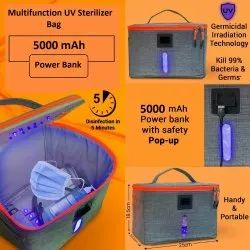 Multifunction sterilizer bag with power bank