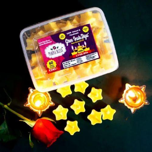 Rose Essential Oil Handmade Ghee Diya