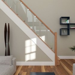 Stylish Full Glass Stairs