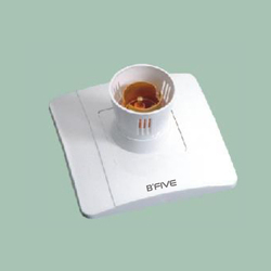 Ceramic White Batton Holder (Cute), Packaging Type: Box