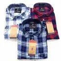Cotton Collar Neck Mens Stylish Check Shirt, Machine Wash