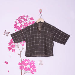 Crop Top in Printed Cotton