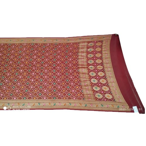 All Over Red Color Fancy Design Banarasi Georgette Dupatta