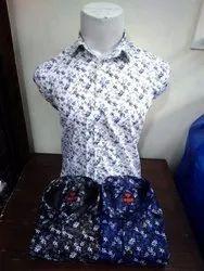Men Printed Cotton Shirt