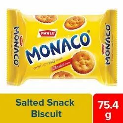 Sweet And Salty Parle Biscuits Monaco Salted Snack, Packaging Type: Packet, 92gm