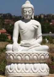 Marble Kamal Buddha Statue