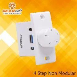 Gearup White 4 Step Non Modular Fan Regulator
