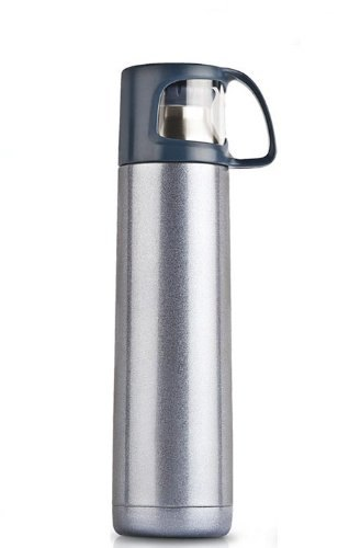 Akinitos Silver Flask With Cup, for Office, Capacity: 900 Ml