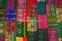 Vintage Kantha Sari Quilt Patchwork Handmade Bedspread