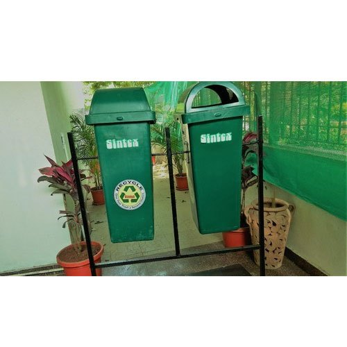 Green HDPE Nilkamal Open Top Waste Bin, For Garden, Rs ...