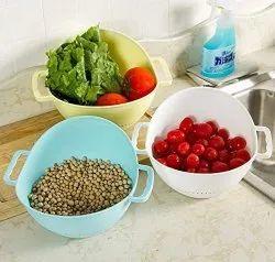 Kitchen Rice Washing Basket Organizer with Handle - Rice Bowl