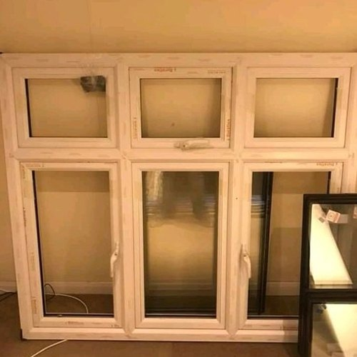 4 Feet Hinged UPVC Glass Window