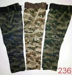 Casual Wear Printed Kids Cotton Military Pants