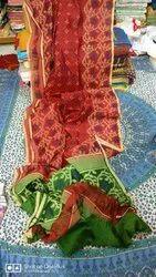 Handloom Cotton Silk Print Saree