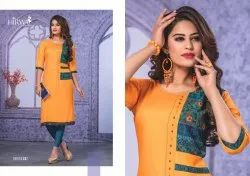 Shirya Rayon With Hand Work Designer Long Kurtis