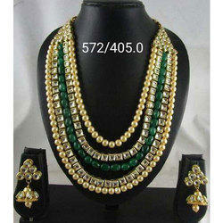 Stylish Artificial Beaded Necklace Set