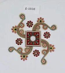 freehand swastik Design Rangoli