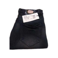 Circle Fashion Casual Wear Mens Black Denim Jeans