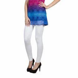 White Lycra Cotton Ladies Legging, Size: S, M, L