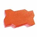 Concrete Red Zig Zag Paver Block for Pavement, Thickness: 60mm