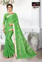 Dollar Light Green Pure Linen Cotton Saree