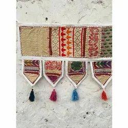 Decorative Indian Vintage Hand Embroidered Patchwork Toran Home Decor