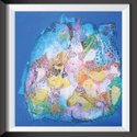 Canvas Streached Painting Abstract, Size: 1ft X 1ft