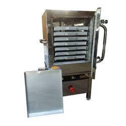 Stainless Steel Idli Making Machine, 1.5 Hp, Capacity: 240 Idlis At A Time