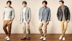 Plain Mens Semi Casual Cotton Trousers