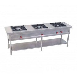 Stainless steel Three Burner Gas Stove, For Hotel