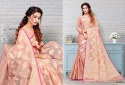 Aura Saree Rihana Tissue Brasso Indian Festive Collection Saree
