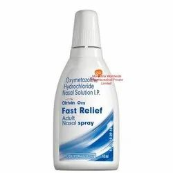 Otrivin Oxy Fast Relief Nasal Spray, For Personal, Packaging Size: 10ml