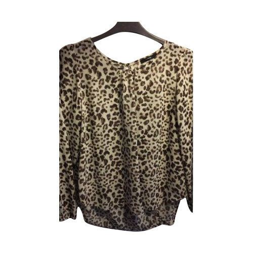 9e0c9bb014d1 Ladies Georgette Leopard Printed Top