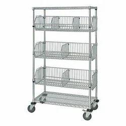 Wire Basket Shelving Unit