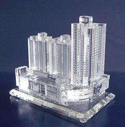 Modern Building Crystal Miniatures