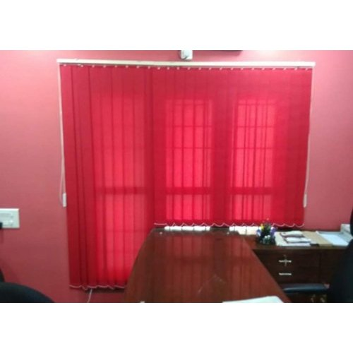 Pink PVC Vertical Blinds, Size: 4-5 Feet