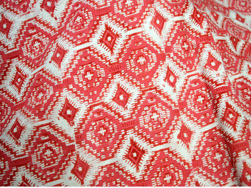 """Red Indian Cotton 55"""" Wide Fabric Material Light Weight Crafting By The Metre"""