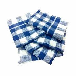 Blue Checked Kitchen Towel, Size: 18w X 27l Inch