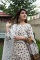 Regular Printed Cotton Suits With Pant And Dupatta Set