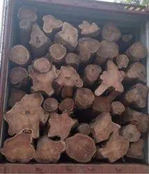 Dark Brown Timber Logs